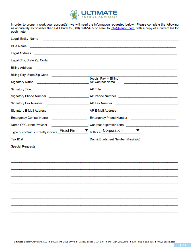 UEA Info Summary
